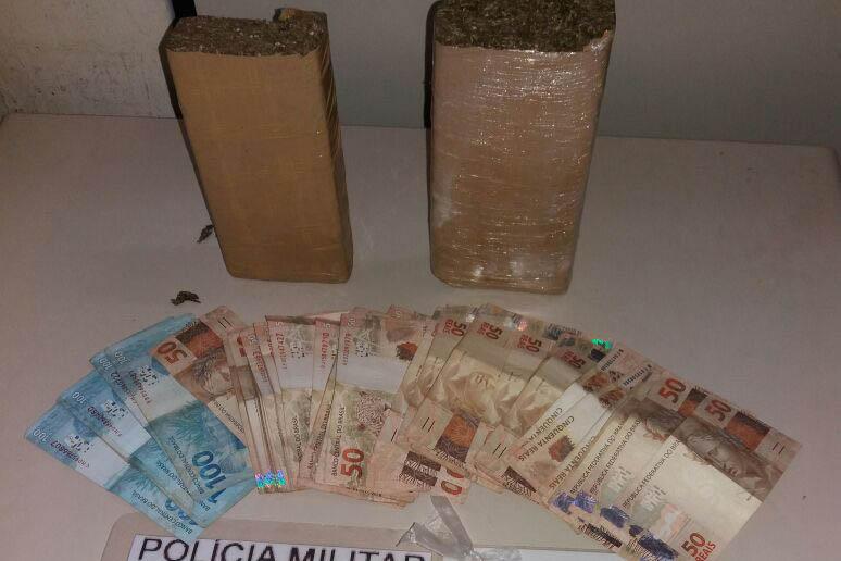 Polícia prende dois homens com drogas na Vargem Grande