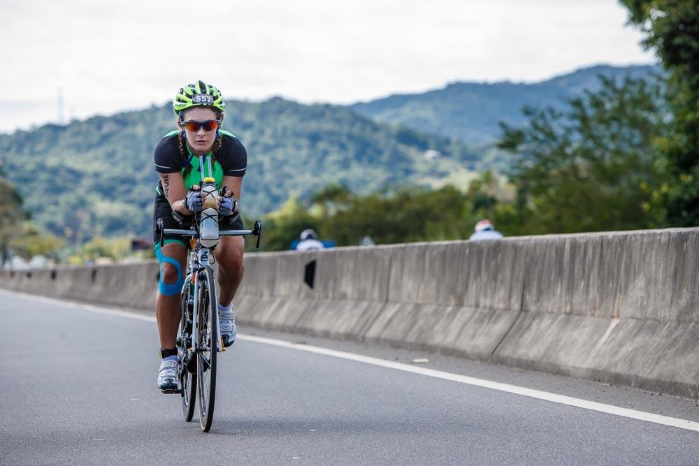 Ironman causa engarrafamento na SC-401 na manhã deste domingo (28)