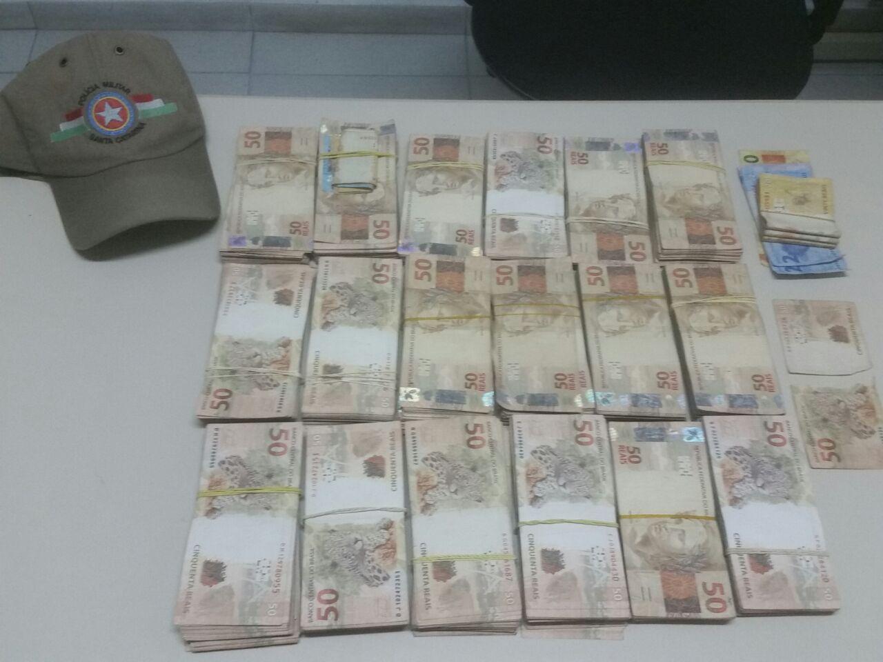 Perseguição policial termina com apreensão de R$ 90 mil no Norte da Ilha
