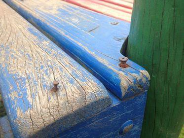 Parquinho oferece riscos às crianças na Praia do Santinho